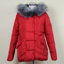 Womens Winter Jackets And Coats Nice Parkas For Women Wadded Jackets Warm Outwear With A Hood Large Faux Fur Collar Kurtki F822