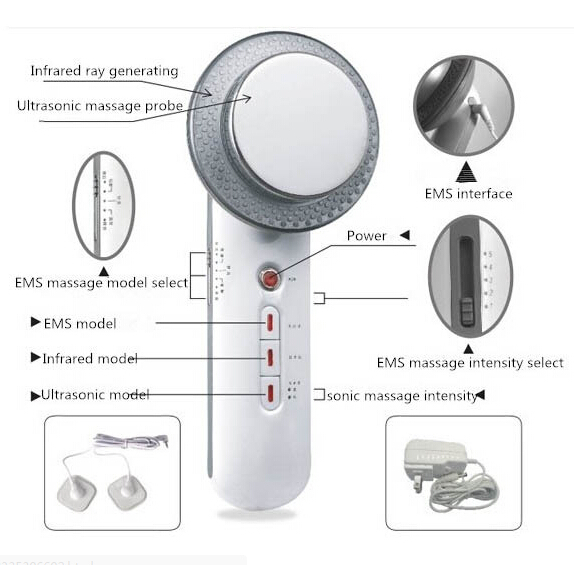 5PCS\LOT DHL free shipping Electric 3in1 Ultrasound Infrared EMS Weight Loss Anti-Cellulite Body Slimming Shaping Massager dhl ems 5 lots new in box om ron e2e x4md1 m3g z e1
