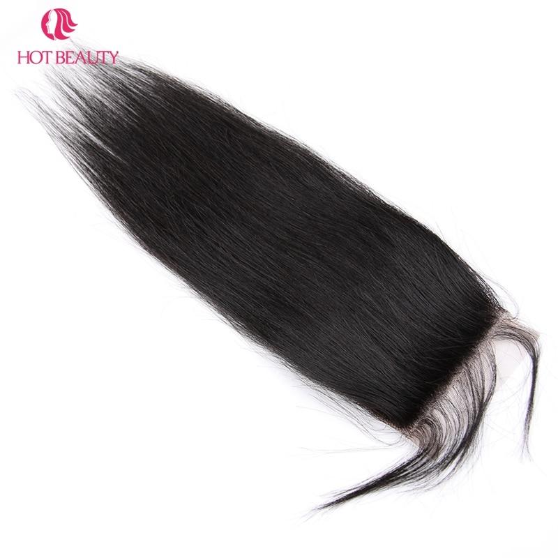 Гарячі волосся закриття перуанських - Людське волосся (чорне) - фото 5