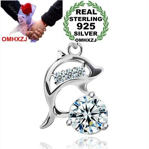 Omhxzj Оптовая Продажа геометрический дельфины любят модные женские поп-звезда 925 Серебряный кулон Подвески PE53 (не цепь Цепочки и ожерелья)