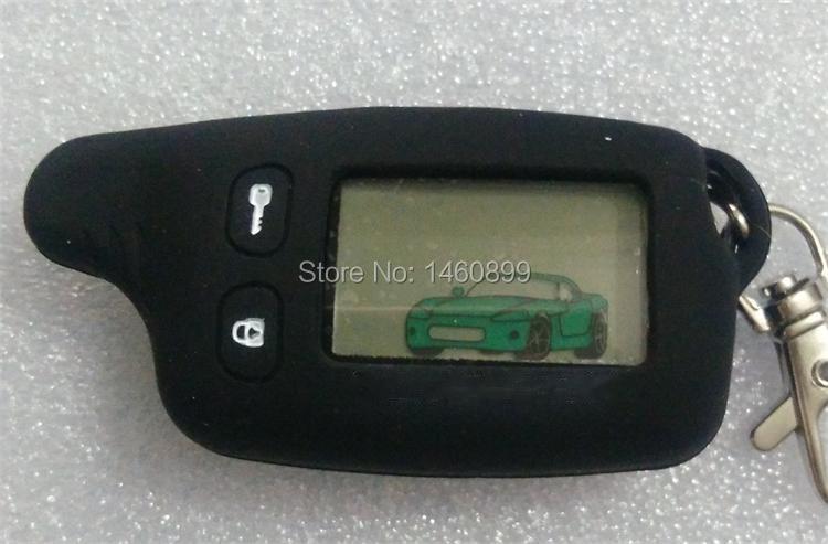 2-way TW-9010 LCD Touche De La Télécommande Fob + Tamarack Étui En Silicone pour Russe TW 9010 deux voies système d'alarme de voiture Tomahawk TW9010