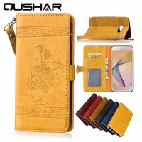 Luxury PU Leather Capa For Samsung Galaxy J7 Prime Case 5 5 Stand Wallet Card Slot