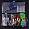 Fishing Lures Kit Mixed Swivel Spinner Grip Hooks Fish Lures Set In Storage Box Isca Artificial