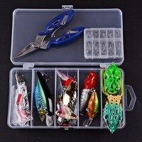 Mồi câu cá Kit Hỗn Hợp Swivel Spinner Grip Hooks Cá Lures Set Trong Hộp Lưu Trữ Isca Nhân Tạo Fishing Tackle Pesca