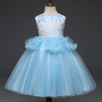 Kids Dress Girls Dresses Embroidered Dresses Summer Children Sleeveless Princess Dress 3 7 Years