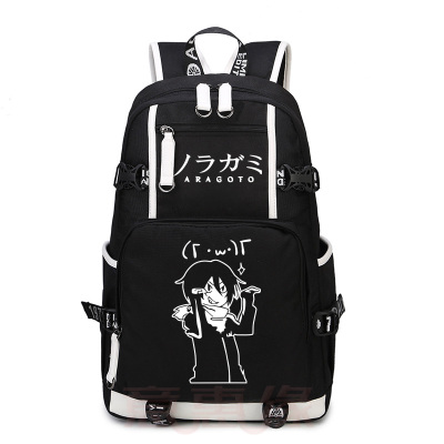 Anime Noragami cosplay Backpack Anime YATO Canvas Bag Luminous Schoolbag Travel Bags стоимость