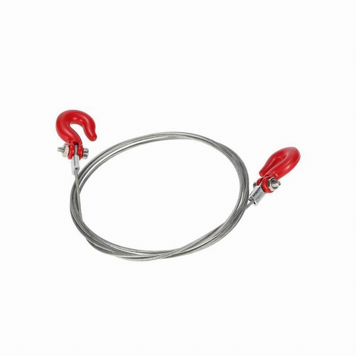 1 10 rc crawler accessories metal steel trailer wire rope tow rope w   hooks for rc car 1  10 d90