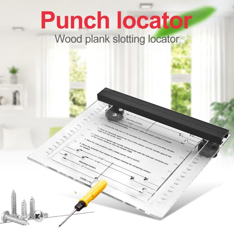 Woodworking Punch Locator Wood Slotting Furniture Handle Mounting Tools Woodworking Hole Punching Carpenter Tools