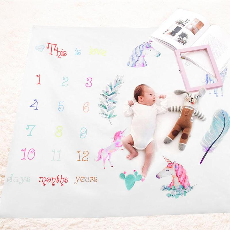 Photo Baby Blankets Soft Infant Swaddle Wrap Newborn Cartoon Photography Backfround Fashion Flower Printed Kids Bathing Towel