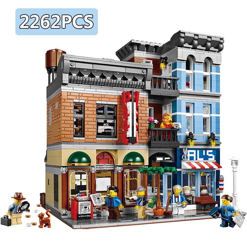 Hot Selling 2262 PCS Big Building Blocks Bricks Compatible LegoINGLYS City Detective Office Classic Architecture Toys for Kids