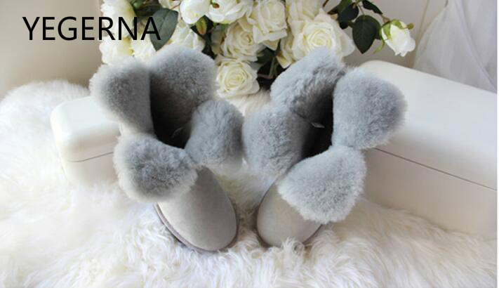 100% Natural Fur Female Boots Warm Wool Fashion Ankle Boots Women Snow Boots Genuine Sheepskin Leather Winter Boots  Shoes top quality fashion women ankle snow boots genuine sheepskin leather boots 100% natural fur wool warm winter boots women s boots