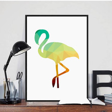 Nordic Diamond Animal Art Canvas Print Painting Poster , Flamingo Wall Pictures For Home Decoration, Kids Room Decor