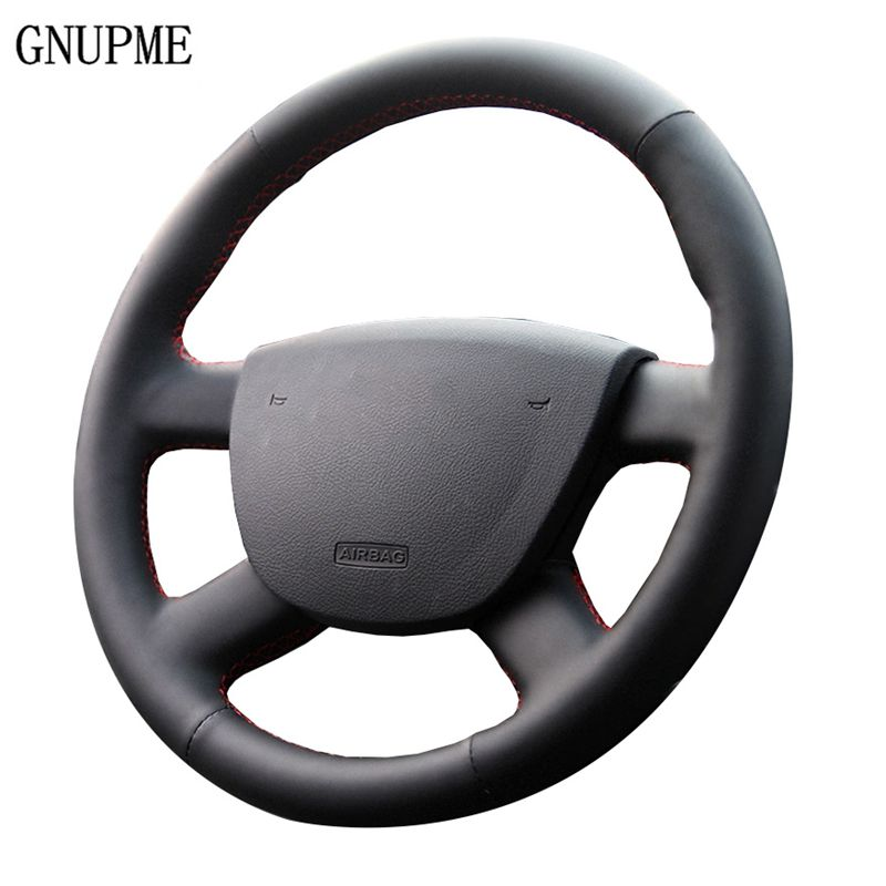 GNUPME Black Artificial Leather Car Steering Wheel Cover for Ford Focus 2 2005 2016 Special hand stitched Steering Covers|Steering Covers| |  - title=
