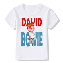 David Bowie Print T-Shirt Boys Girls Toddlers Kids