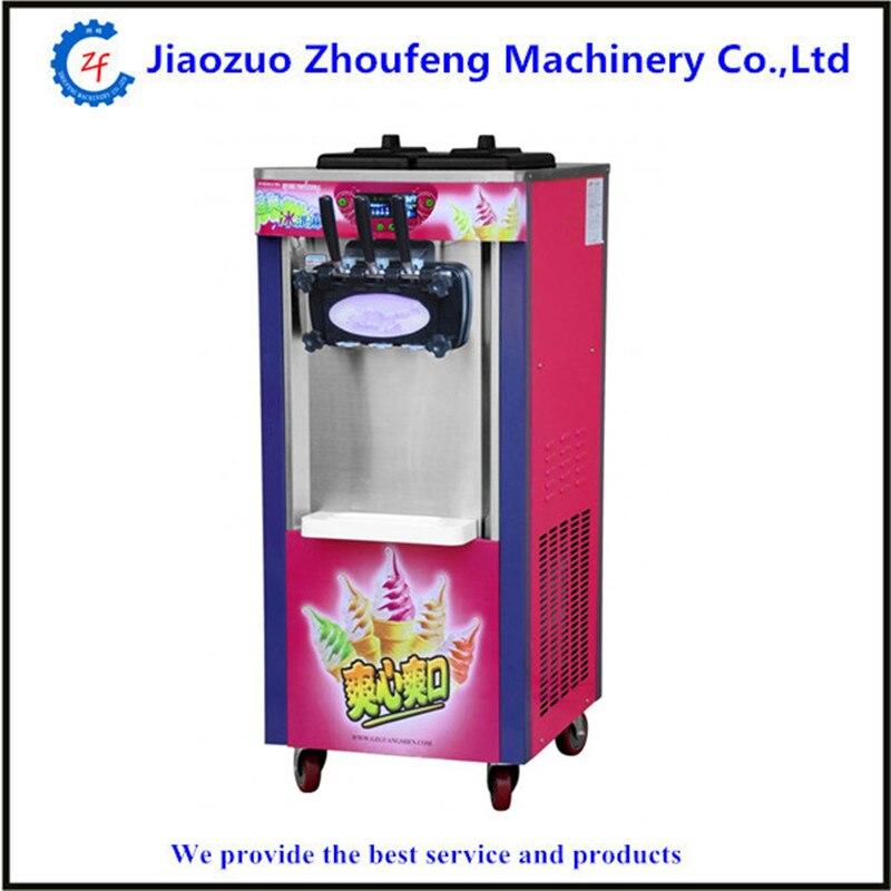 Commercial Soft Ice cream maker three flavors Icecream machine 220V professional yogurt machines
