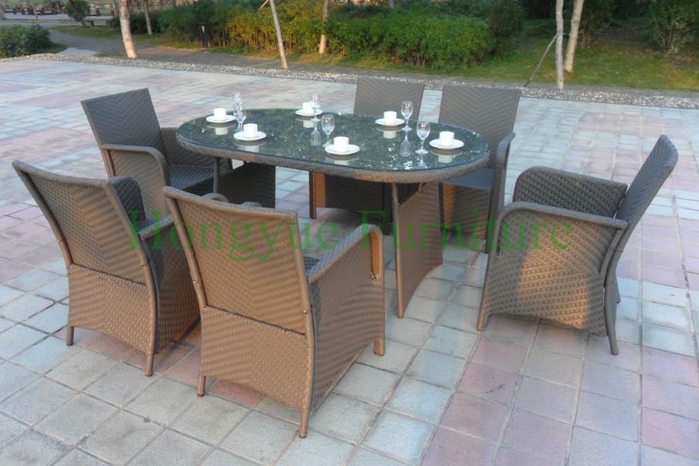 Tuin Dining Sets : Dining table chairs in rattan materials outdoor garden dining set