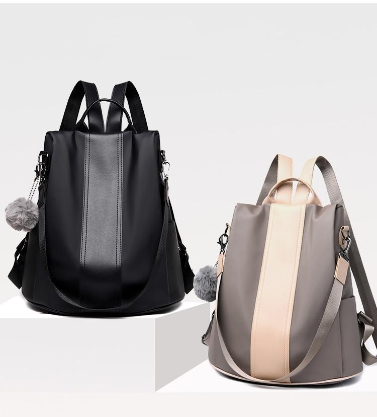 HTB15aWEXE rK1Rjy0Fcq6zEvVXaq New Fashion Waterproof Casual Women Backpack Purse Anti-theft Rucksack Mochila Feminina School Shoulder Bag for Teenagers Girls