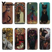Yinuoda Ancient egyptian style Cat Hot selling fashion design skin thin tpu cell Case For iPhone X XS XR XsMax 8plus 6 6s 7plus(China)