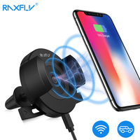 RAXFLY Car Wireless Charger For IPhone X 8 Plus Air Vent Car Phone Holder QI Wireless