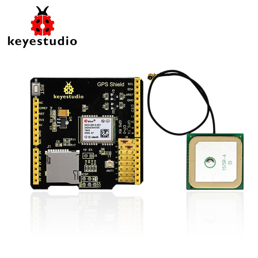 keyestudio GPS shield with SD slot +Antenna for Arduino UNO R3