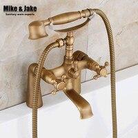 Antique bathtub stand faucet shower mixer faucet bathroom telephone bath faucet with hand shower bathroom shower tap