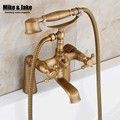 Antique bathtub stand faucet shower mixer faucet bathroom telephone bath faucet with hand shower bathroom shower tap