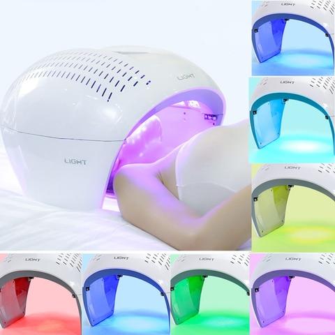 Pdt port til led photon terapia de luz 7 cores led m scara facial luz