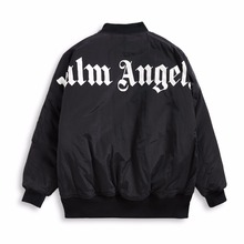 palm angels Jacket letter autumn winter OVERSIZE Bats Shoulder fall cotton coat 18ss new Zipper pocket Men Women Outerwear