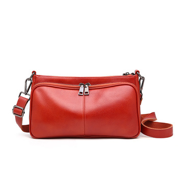 Designer Genuine Leather Women Messenger Bag Top Quality Small Crossbody Totes Lady Fashion Luxury Evening Red Shoulder Bags