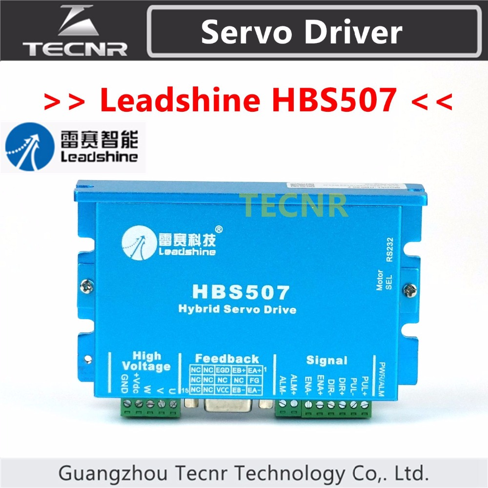 Leadshine Closed Loop Hybrid servo driver HBS507 3 phase 18-50VDC 100w new leadshine closed loop system a servo drive hbs507 and 3 phase servo motor 573hbm10 1000 with a cable a set cnc part