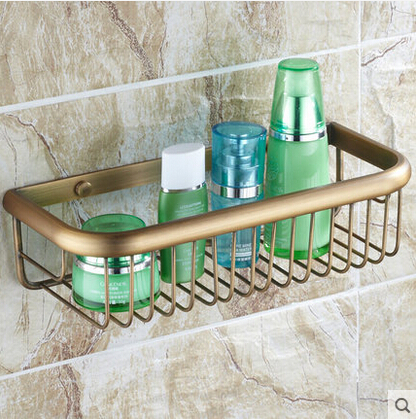 ФОТО brass Wall Mounted bronze finish Storage basket holder bathroom shelf bathroom holder soap holder Rack bathroom accessories