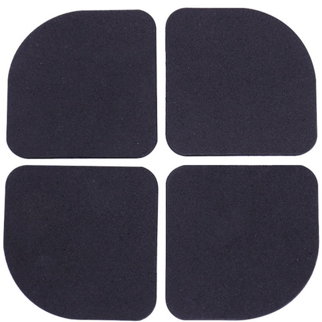 4pcs/set Black Multifunctional Washing Machine Shock Pads Non-slip Mats Refrigerator Shock Mute Pad