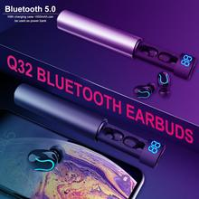 Q32 TWS Wireless Headset Bluetooth Earphone 5.0 Earbuds 8D Stereo With 2600 MAh Charger Box Use For And Phone