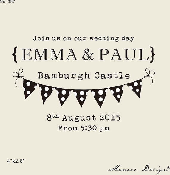 4 X 2 8 Personalized Stamp Join Us On Our Wedding Day Custom Invitation