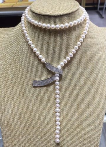 natural 9-10mm genuine white south seas pearl necklace 40inch s925 Email to friend>>>hot Sell necklace pendant Free shipping