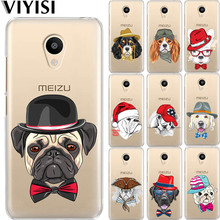 VIYISI For Meizu M6 Note Phone Case U20 U10 M5S 5C M5 M3s M3Note Pro6 Dog Animals Soft Silicone Back Shell Coque Cover Fundas