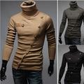 2015 Hot Sale da moda dos homens camisola gola de malha fina camisola dos homens Casual na homens homens camisola de malha camisola do natal