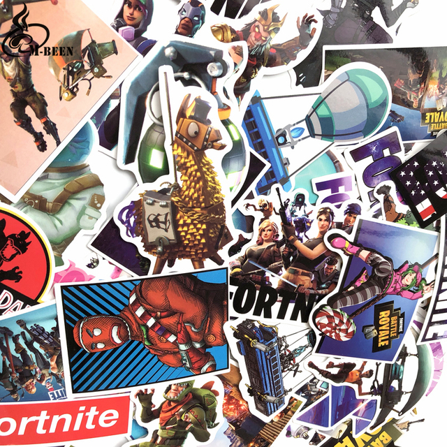 50Pcs/lot cool games Stickers For Computer PS4 Pad Phone Laptop TV Fridge Bicycle Pvc Waterproof Decal Sticker 2