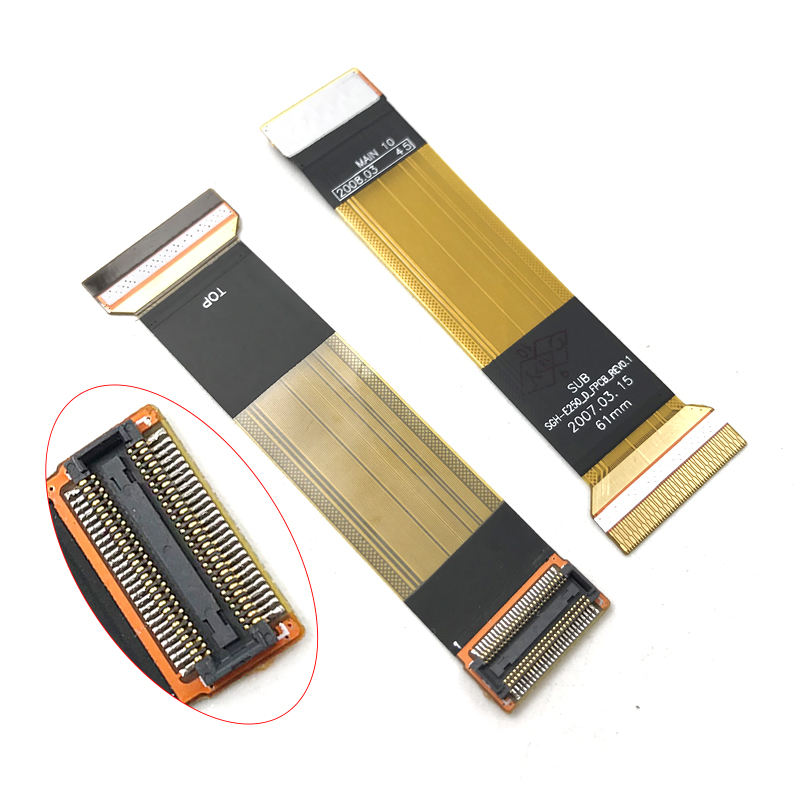 New Compatible For <font><b>Samsung</b></font> <font><b>E250</b></font> <font><b>E250</b></font>-D SGH-<font><b>E250</b></font>_D LCD Display Connector Flex Ribbon Cable Replacement Parts image