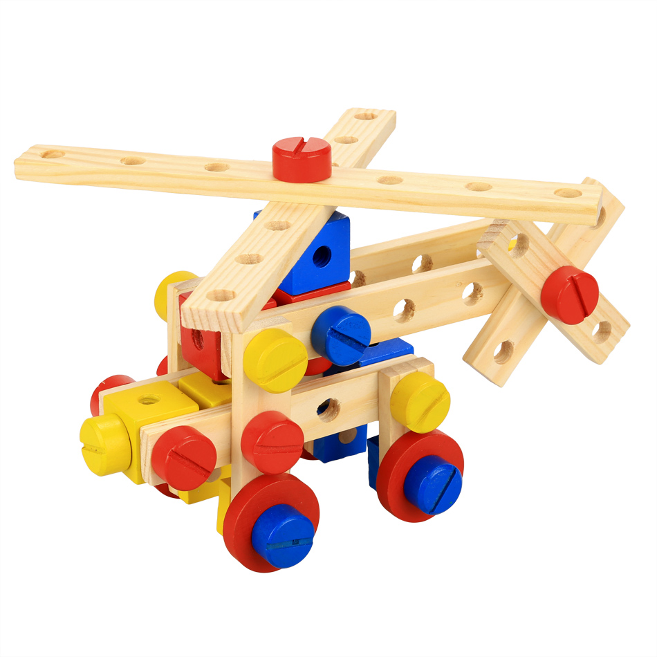 Construction Toys For Preschoolers : Aliexpress buy multi functional wooden nuts and