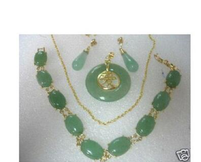 Wholesale price 16new ^^^^Title696 Jewelry stone Pendant bracelet earring sets + chain