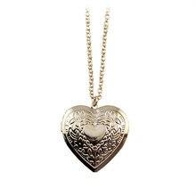Hand-Cut Hearts Long Golden Necklace