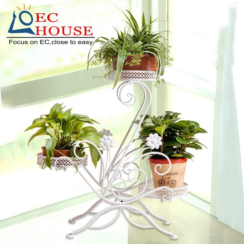 ФОТО Special offer indoor floor balcony iron multi green flower shelf European minimalist living orchids hanging bt FREE SHIPPING