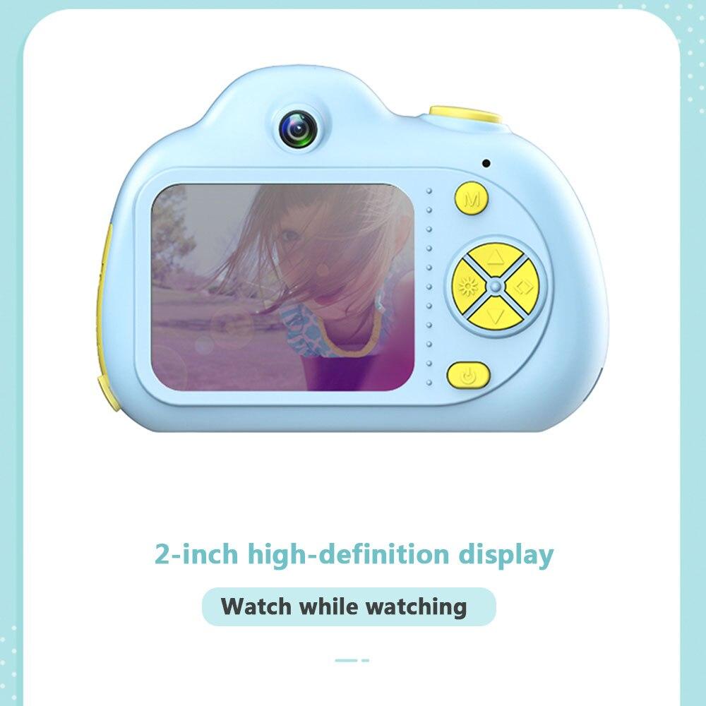 Enfant jouet caméra Support TF carte 2 pouces enfants passer appareil photo numérique enfant photographie mode petit reflex rose bleu 1080 p - 4