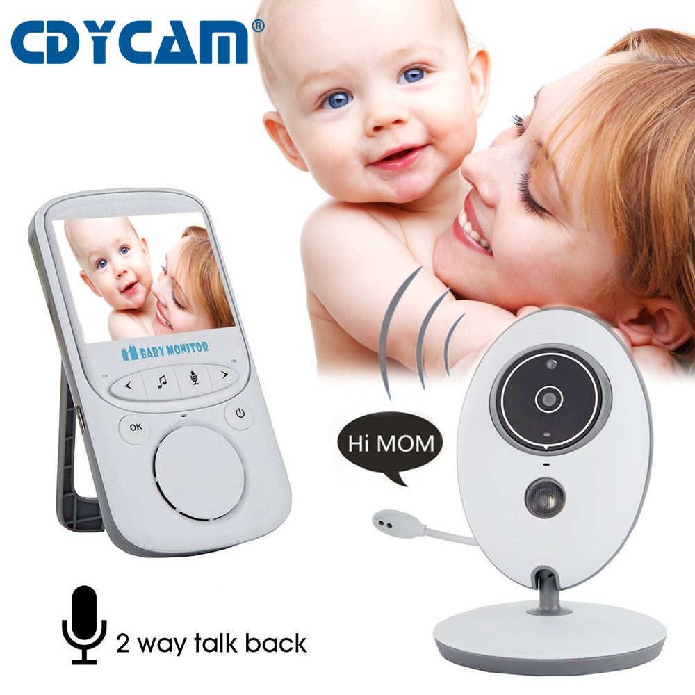 Wireless LCD Audio Video Baby Monitor VB605 Radio Nanny Music Intercom IR 24h