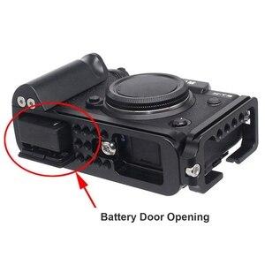 Image 5 - Placa de liberação rápida aperto de mão l suporte de suporte de placa com 1/4 parafuso de montagem de cabeça para fujifilm xt3 X T3 tripé de câmera digital hea