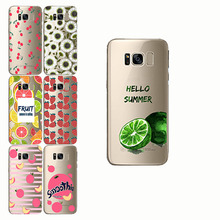 peach banana cherry lemon pattern  soft shell Soft Phone Case Cover for samsung Note10 9 8 s8 S9 s10 plus pro