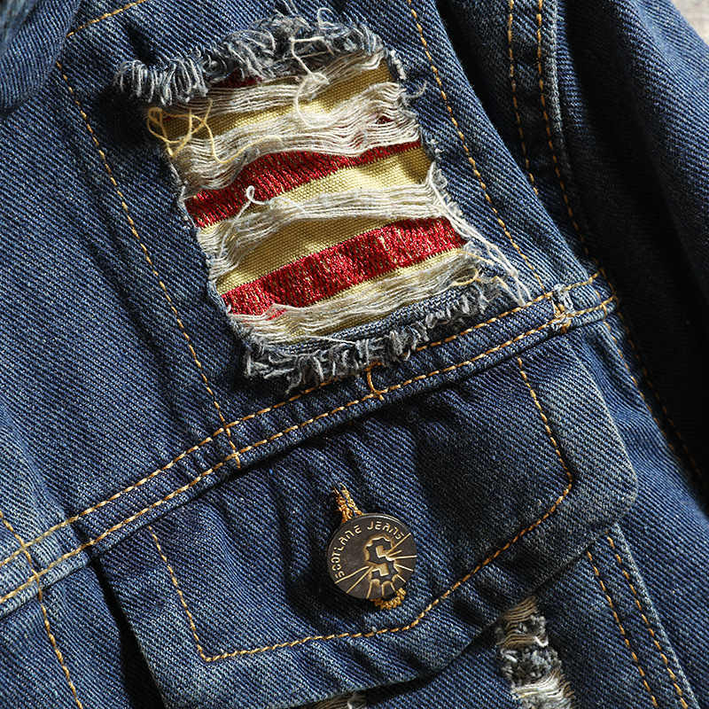 カジュアルスリムメンズデニムジャケットボンバージャケット男性高品質カウボーイ男性のジーンズのジャケットやつ日本ストリートコート