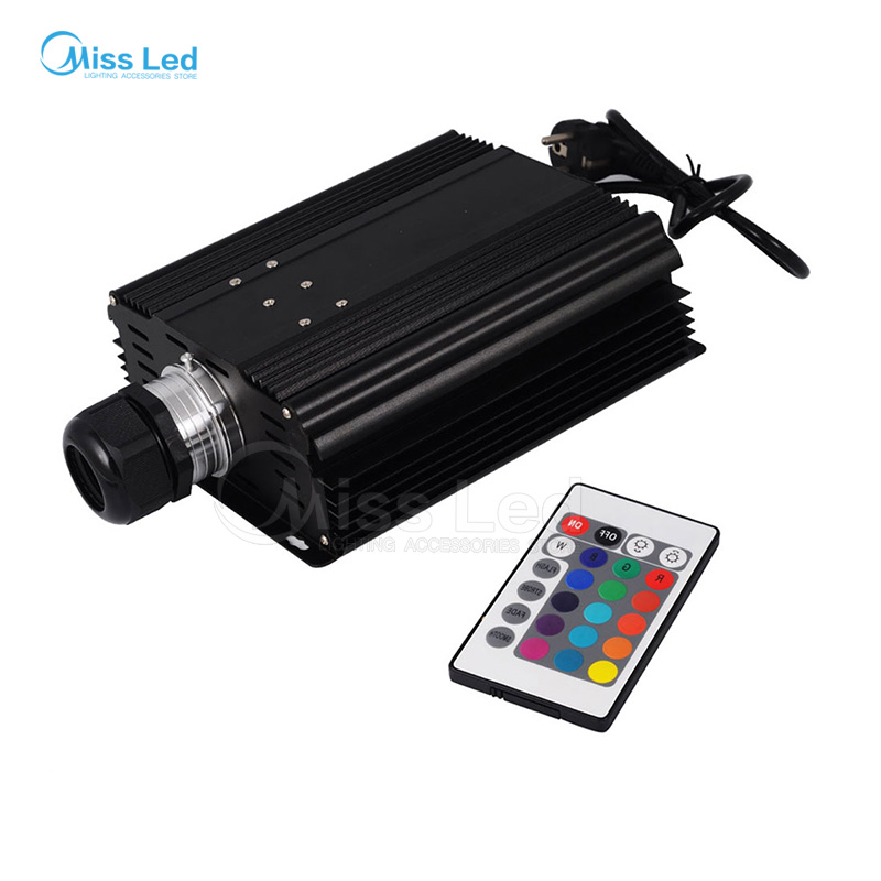 RGB 45W LED Fiber Optic Engine 24key RF Remote controller, 16 colors can be fixed. Four color change modes. Built in innovative 1x high quality 45w rgb color led optical fiber light engine with 4 key rf remote controller express free shipping