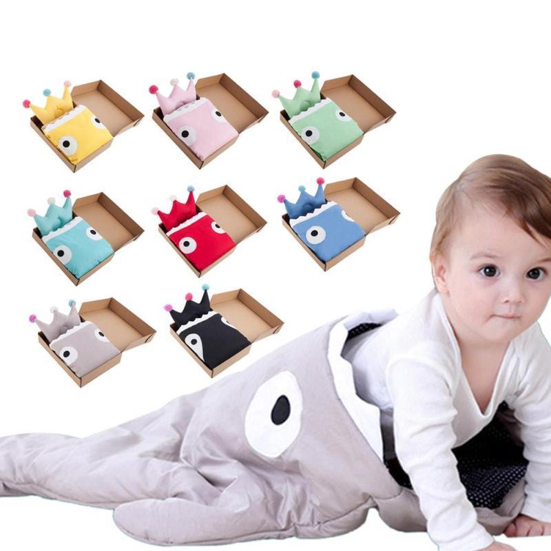 Insular infant sleeping bag shark envelopes for newborns stroller sleeping bag baby pillow sleep sack wrap set baby bedding D3 shark baby sleeping bag shark slaapzak